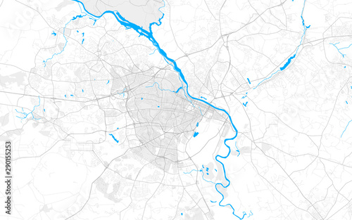 Photo Rich detailed vector map of Augusta, Georgia, USA