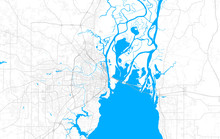 Rich Detailed Vector Map Of Mobile, Alabama, USA