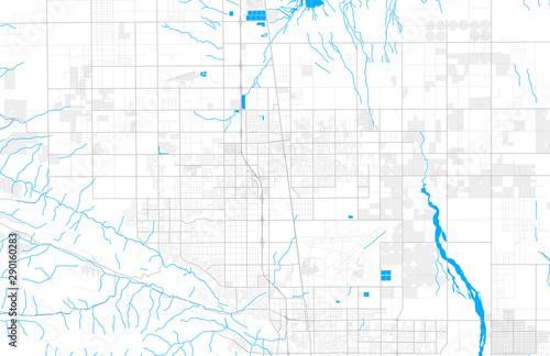 Fotomural Rich detailed vector map of Lancaster, California, USA