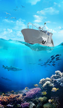 Small Fishing Boat In The Ocea...