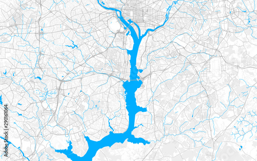 Photo Rich detailed vector map of Alexandria, Virginia, USA