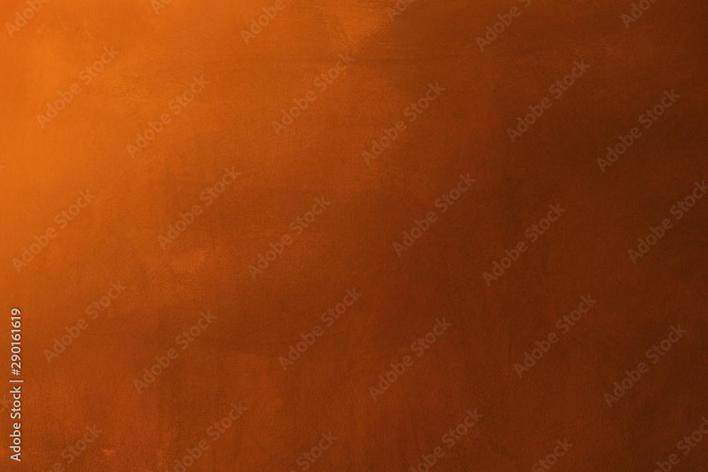 Fototapeta orange and dark cement texture wall background