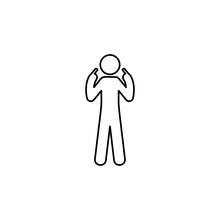 Man Myself, Finger Icon. Eleme...