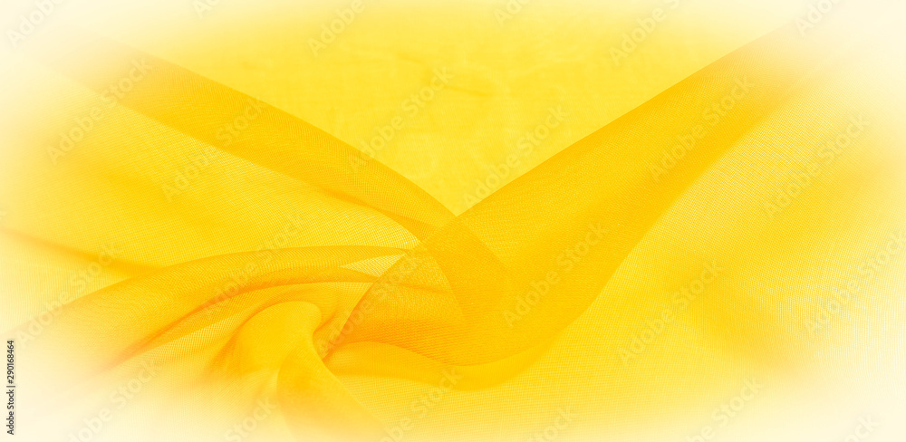 Fototapeta Texture of yellow silk fabric. It is also perfect for your design, clothes, posters. Be creative with beautiful project accents. This fabric is inspired by your inspiration.