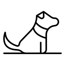 Home Puppy Dog Icon. Outline H...