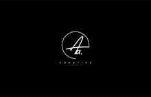 Aa Letter Calligraphic Minimal Monogram Emblem Style Vector Logo