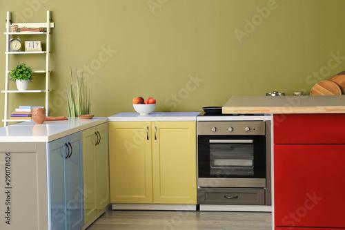 Interior of modern kitchen with stylish furniture Tapéta, Fotótapéta