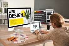 Young Designer Working In Studio