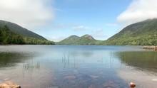 4K Shot Of Jordan Pond In Acadia National Park In Maine