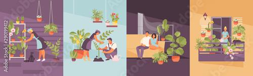 Foto Home garden vector set