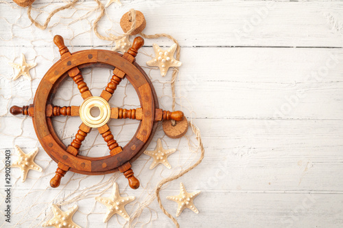 Fotografia Summer vacation, sailing boat themed holiday house and marine exploration concep