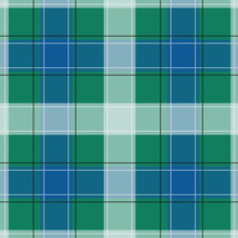 Green And Blue Gingham Pattern...
