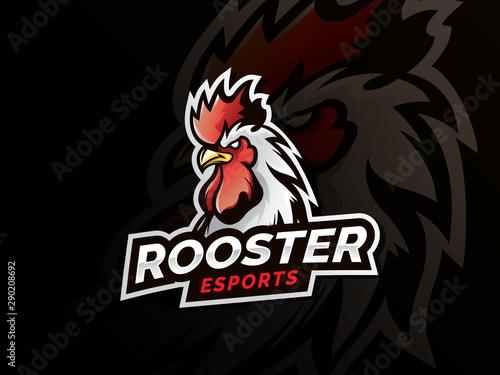 Rooster mascot sport logo design Fototapete