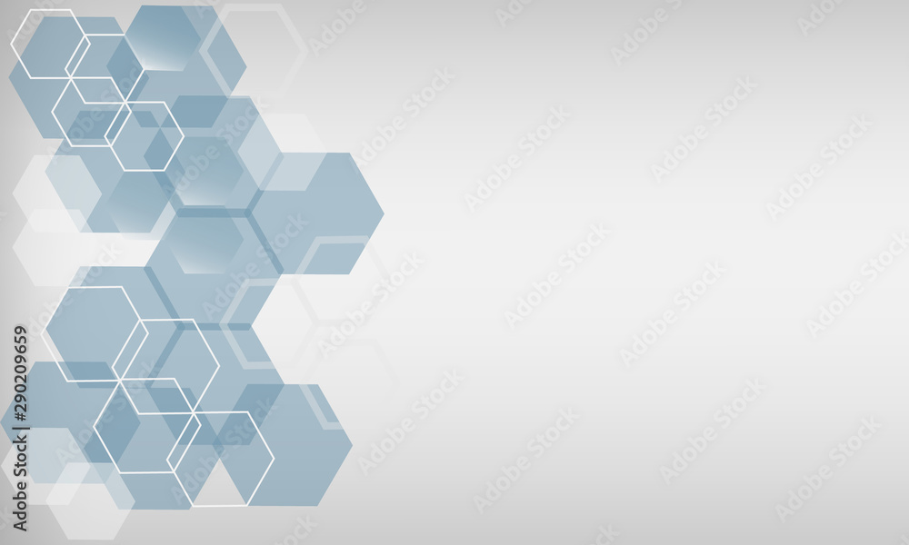 Fototapeta Abstract geometric background, hexagon shapes, space for text.