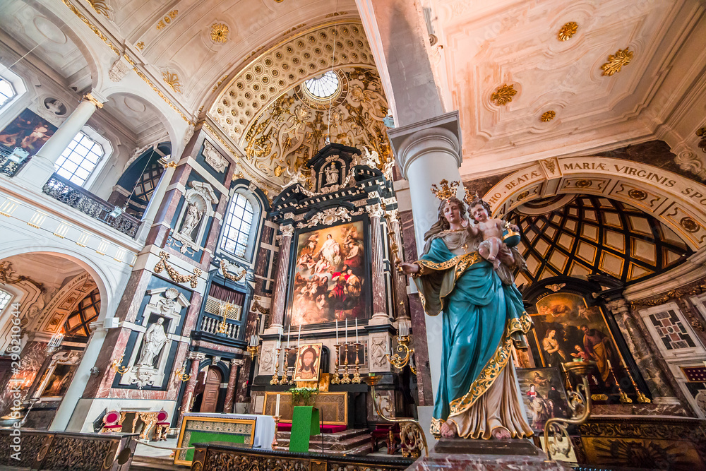 Fototapeta Interiors of Saint Charles Borromee church, Anvers, Belgium