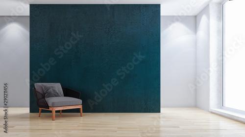 Fototapeta large luxury modern bright interiors room illustration 3D rendering obraz na płótnie