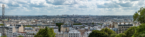 Poster Paris paris skyline panoramic view from the butte Montmartre