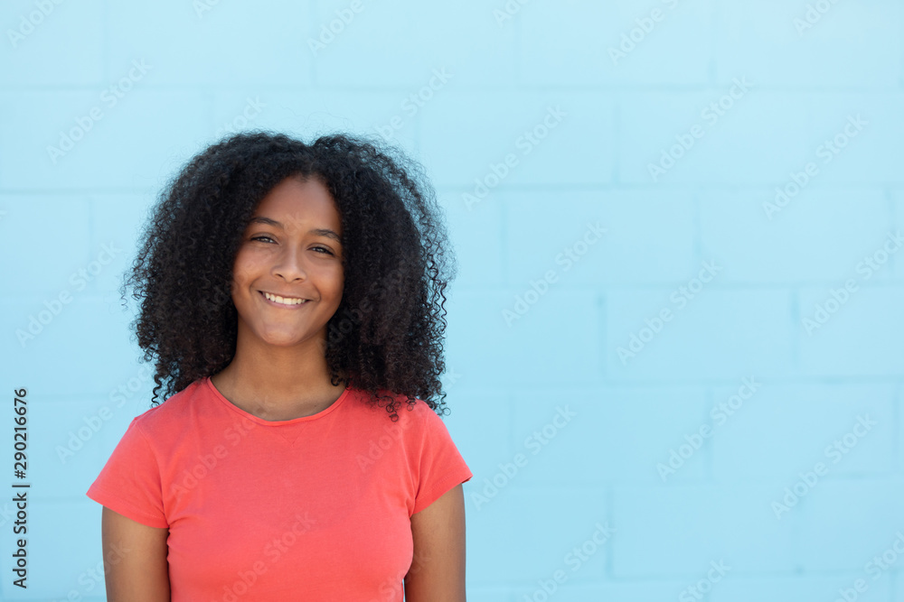 Fototapety, obrazy: Teenager girl with a beautiful afro hair