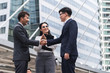 Negotiating business,Image of businessmen shaking Hands with reach an agreement for business,Handshake Gesturing People Connection Deal Concept