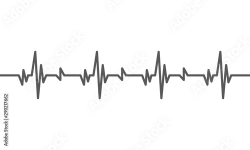 Obraz na plátně  Heartbeat heart beat pulse flat vector icon for medical apps and websites