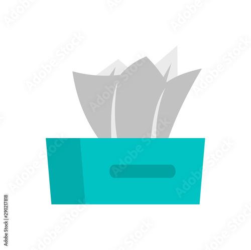 Fototapeta Dry napkins icon. Flat illustration of dry napkins vector icon for web design obraz