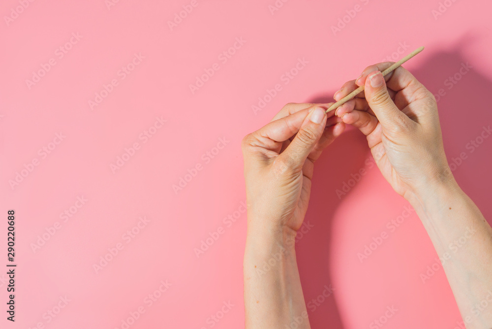 Fototapety, obrazy: nail care top view color background