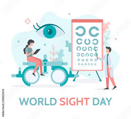 Fotografia World sight day banner