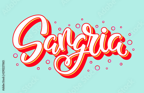 Sangria handwritten vector logo Canvas-taulu