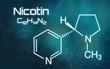 Chemische Formel von Nicotin