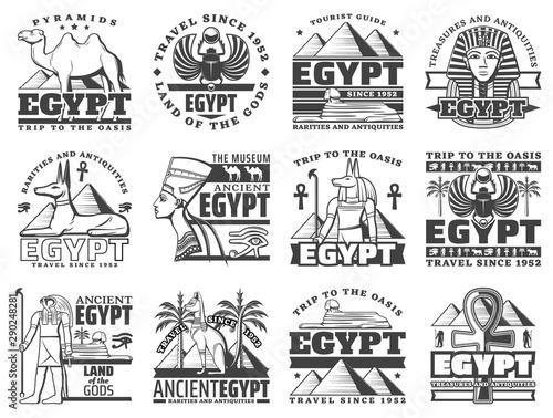 Fotografia Egypt and Cairo travel icons