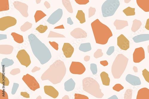 Cuadros en Lienzo Terrazzo creative vector seamless pattern