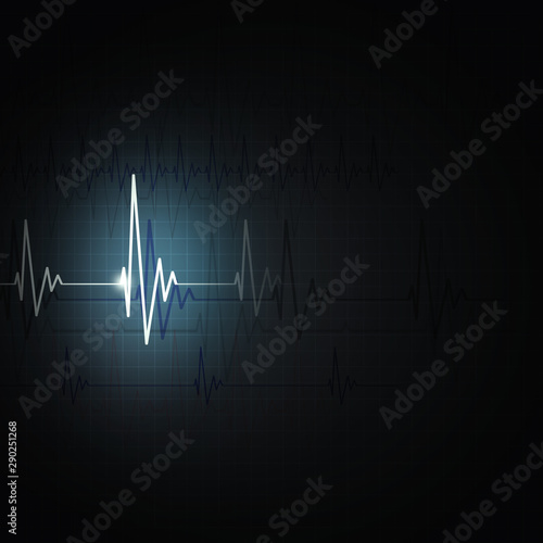 heart rhythm beat Canvas Print