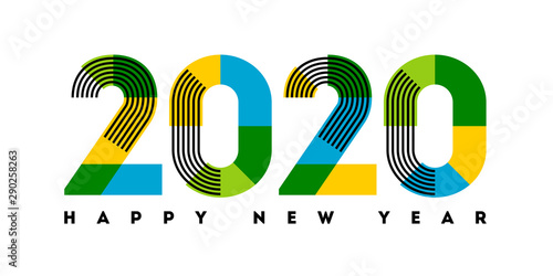 Valokuvatapetti Happy New Year 2020 design