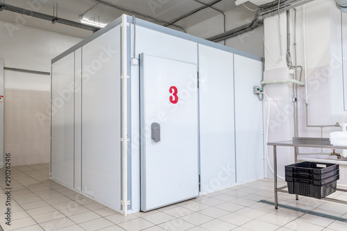 industrial cooling chamber outside view Wallpaper Mural