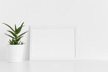 White Frame Mockup With A Aloe...