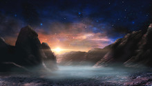 Sci-fi Magical Landscape With ...