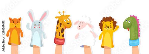 Obraz na plátně Set of hand puppets