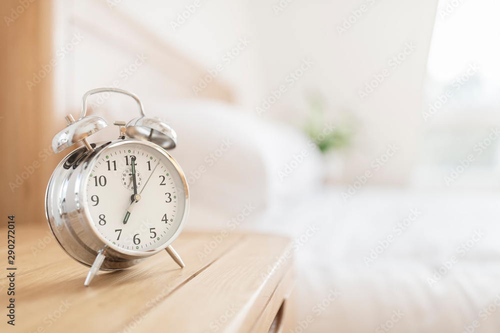 Fototapety, obrazy: Alarm clock morning wake-up time