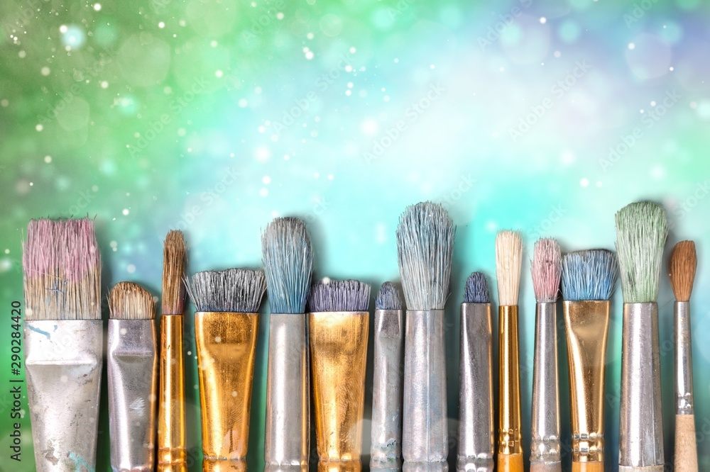 Fototapeta Paintbrush art paint creativity craft backgrounds exhibition