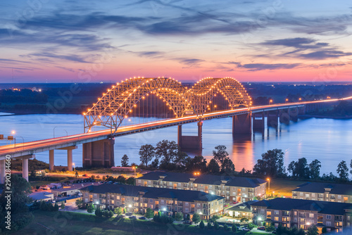 Photo sur Aluminium Ponts Memphis, Tennessee, USA at Hernando de Soto Bridg