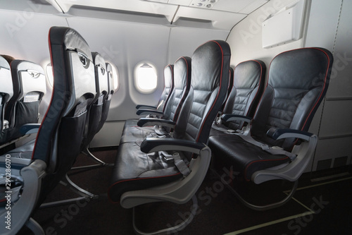 Cuadros en Lienzo  Airplane seats and windows