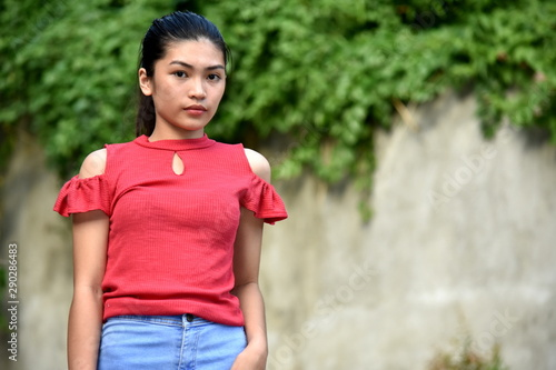 A Serious Filipina Teenager Girl Slika na platnu