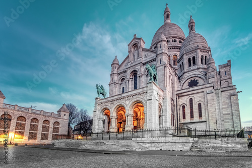 View of the Sacre Coeur Cathedral in Paris, France Canvas Print