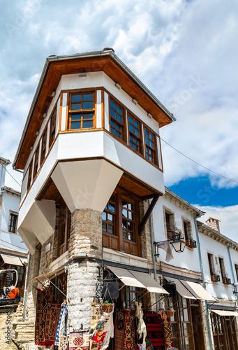 Traditional houses in Gjirokaster, Albania Wallpaper Mural