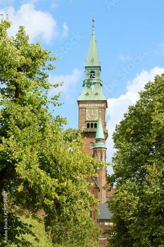 Fototapeta View of Copenhagen City Hall