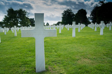 Headstone Of An Unmarked Grave And Unknown Soldier At The American Cemetery At Omaha Beach