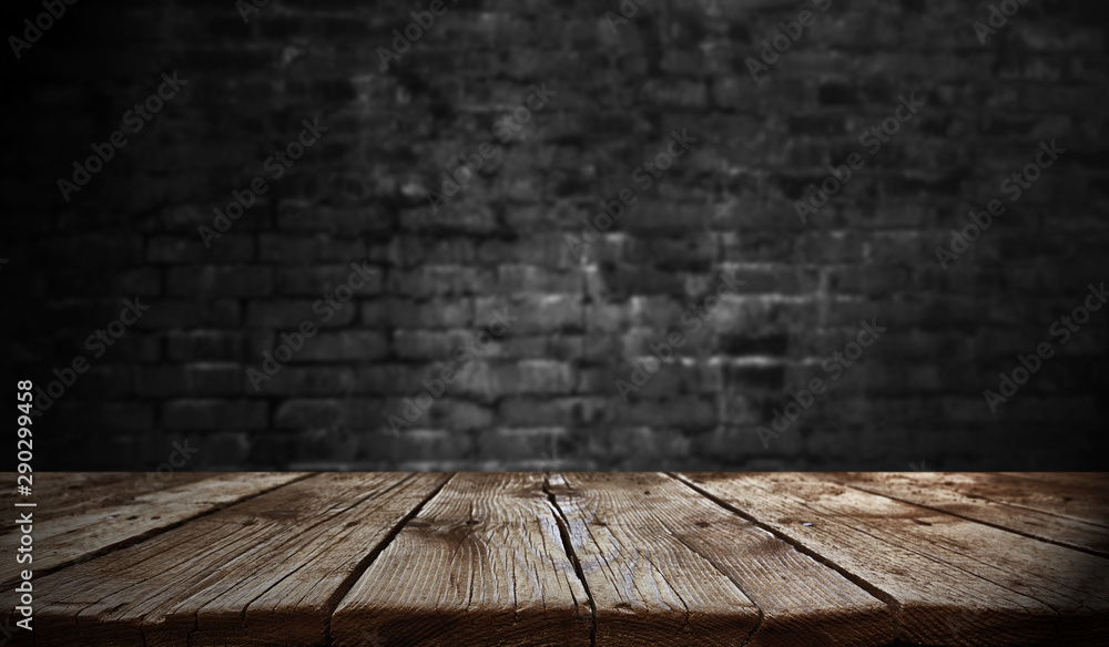 Fototapety, obrazy: Empty old wooden table background