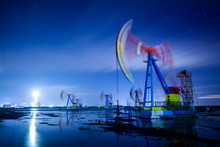 Oil Pump At Night
