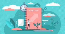 Guide Vector Illustration. Tin...