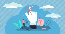 Reminder Vector Illustration. Flat Tiny String Around Finger Person Concept